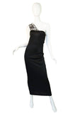 1980s One Shoulder Claude Montana Maxi