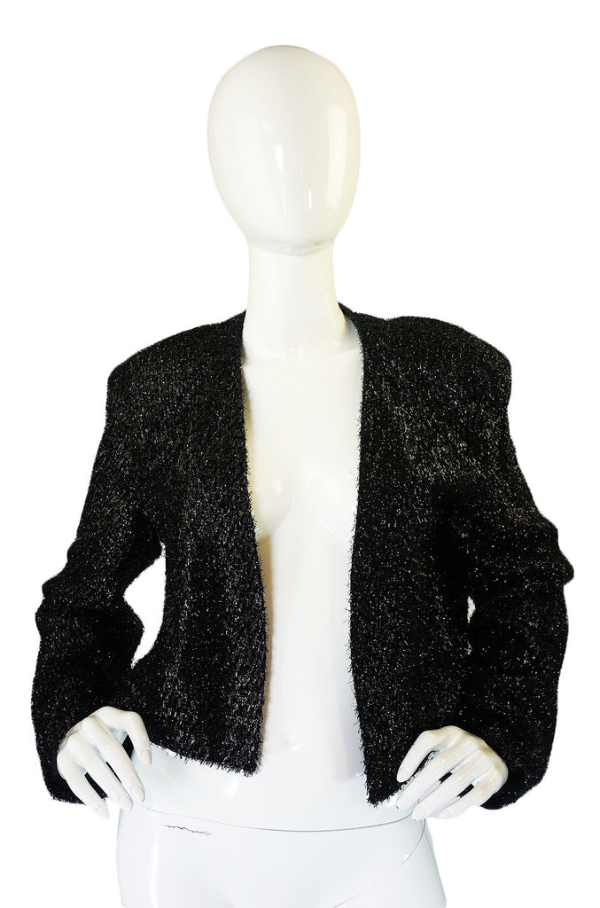 1980s Stephen Sprouse Eyelash Jacket