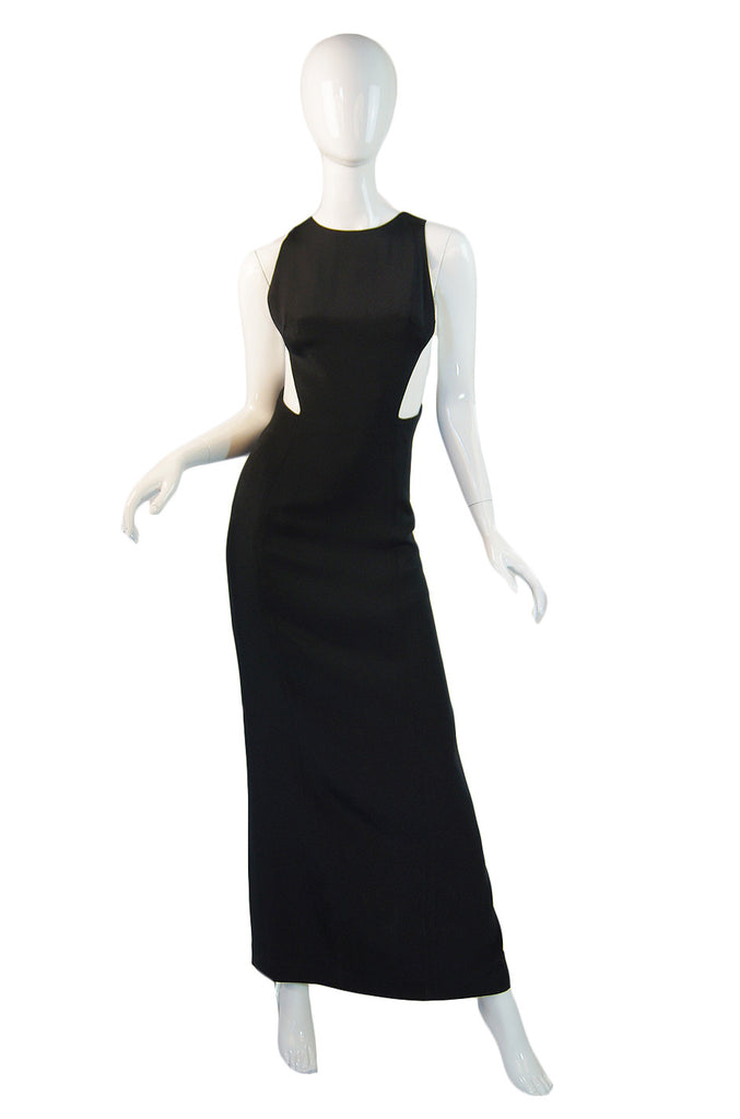 1993 Sexy Todd Oldham Cut Out Gown