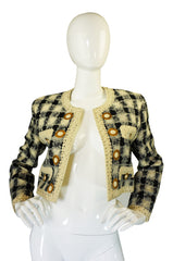 1980s  Moschino Couture Print Jacket