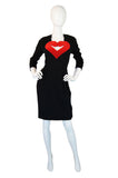1990s Moschino Velvet Heart Dress