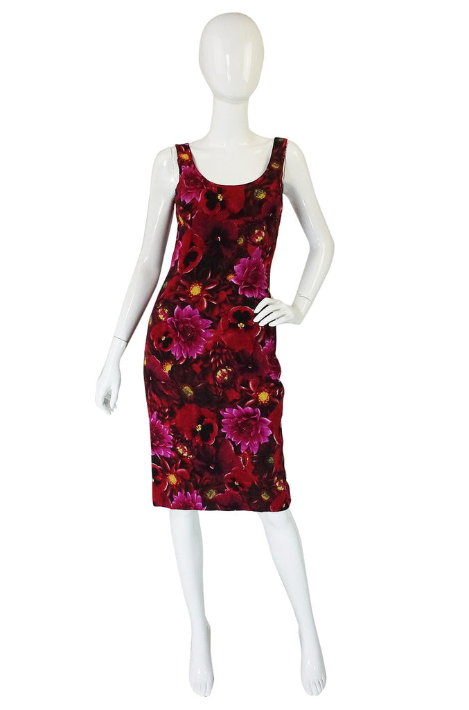 1990s Dolce & Gabbana Floral Dress