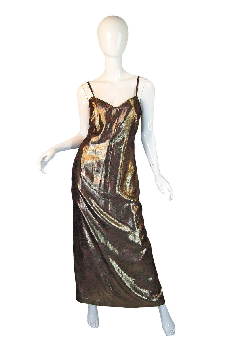 1990s Gianni Versace Lame Maxi
