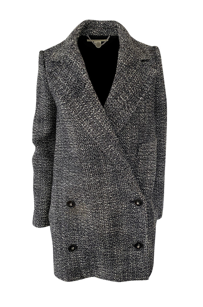 Pre-Fall 2011 Stella McCartney Grey Wool Boucle Low Button Coat