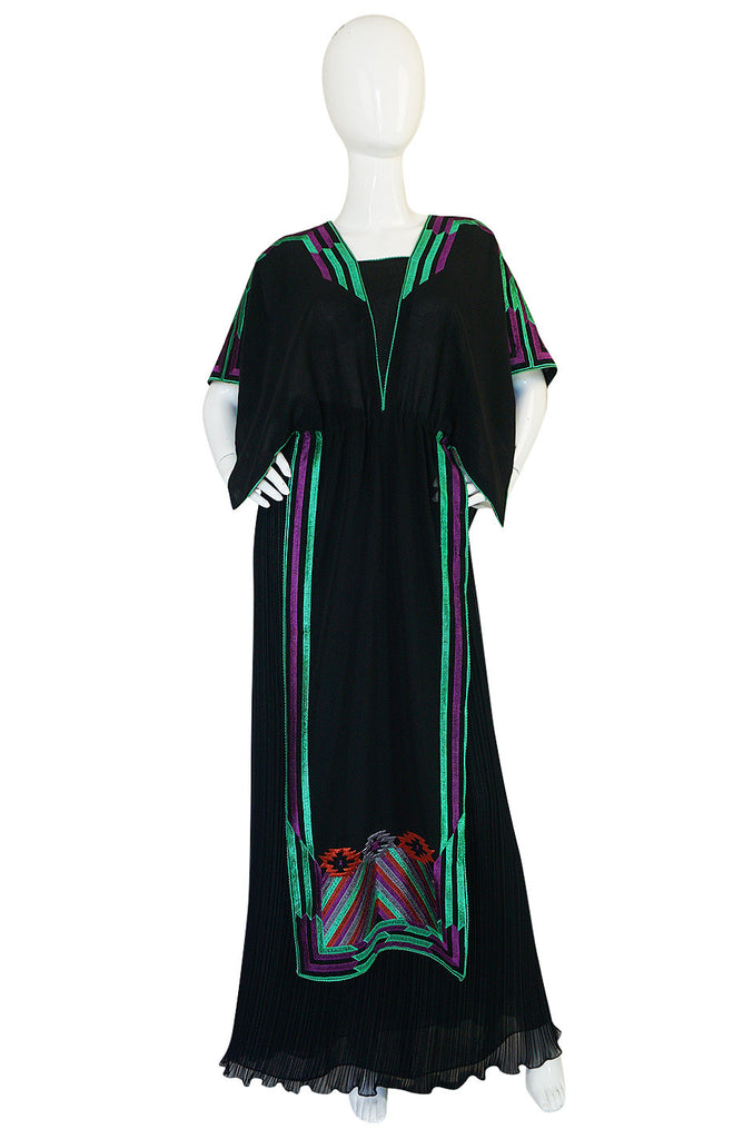 c1970-74 Janice Wainwright Embroidered Caftan Tabard & Skirt Set