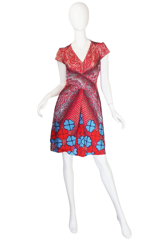 Recent Peter Pilotto Floral Print Silk Dress