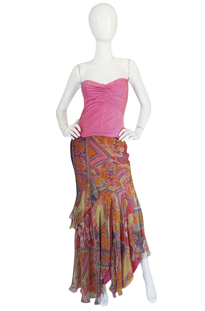Now On Sale - 1990s Galliano for Dior Silk Corset & Skirt Set