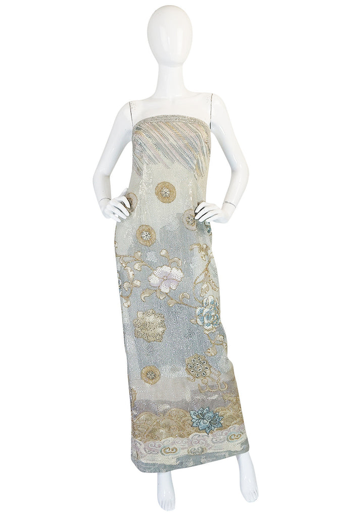 F/W 1995-96 Giorgio Armani Couture Fully Beaded Runway Dress