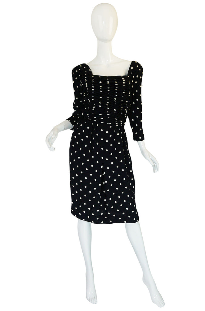 Now On Sale - 1980s Oscar de la Renta Dot Dress