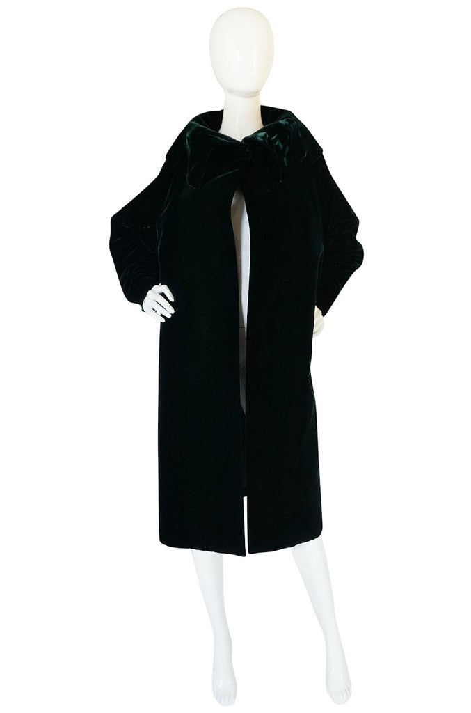 1962 Green Velvet Jacques Griffe Ad Campaign Coat