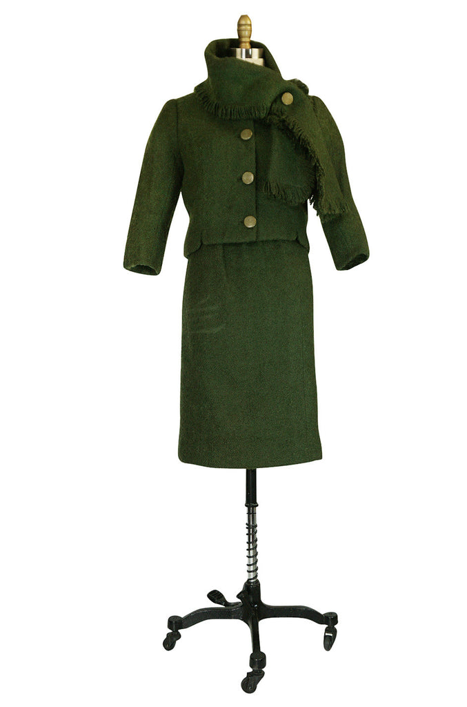 c.1958 Green Museum Held Balenciaga Haute Couture Suit