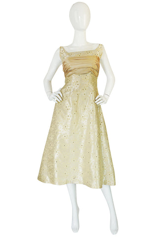 Treasure Item - 1950s David Hart Brocade & Rhinestone Dress