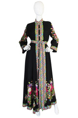 Exceptional Antique Hand Embroidered Coat or Gown