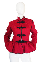 Documented F/W 1990-91 Yves Saint Laurent Red Jacket