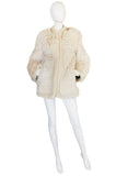 1978 Yves Saint Laurent Feather Fox & Mink Fur Jacket