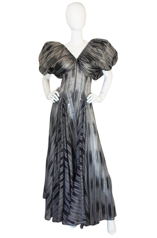 1970s Yves Saint Laurent Silk Dress with Exceptional Lines