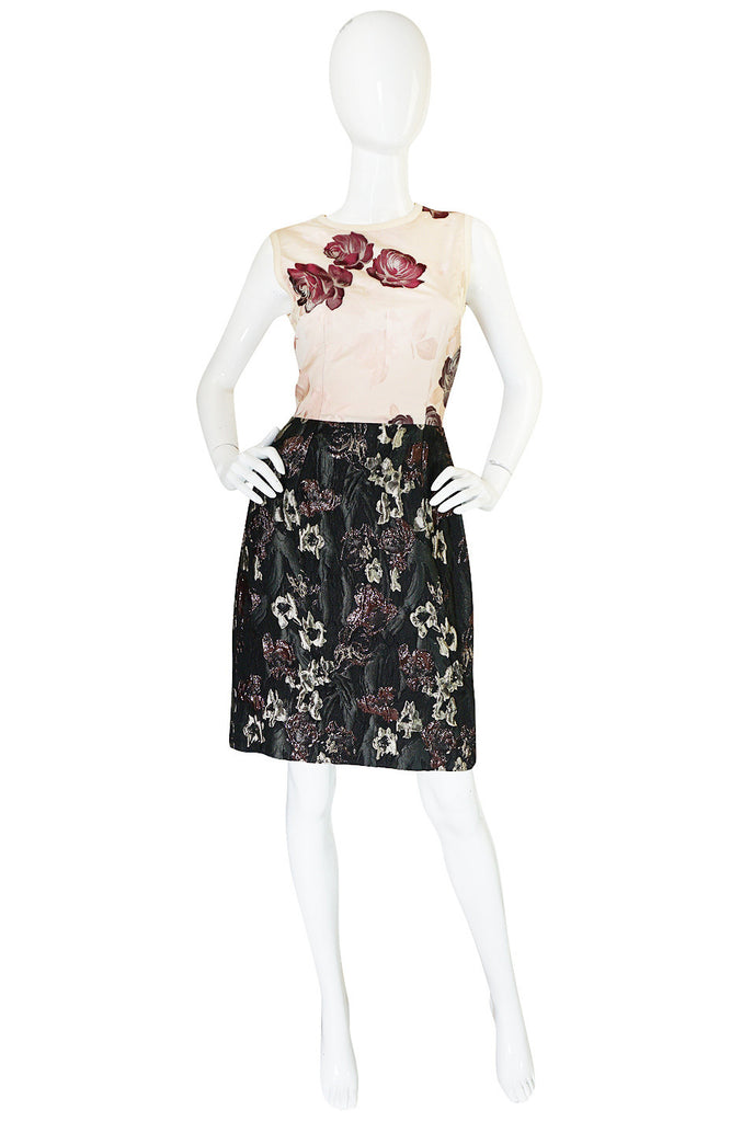 Recent Dolce & Gabbana Puffed Lame Floral Dress