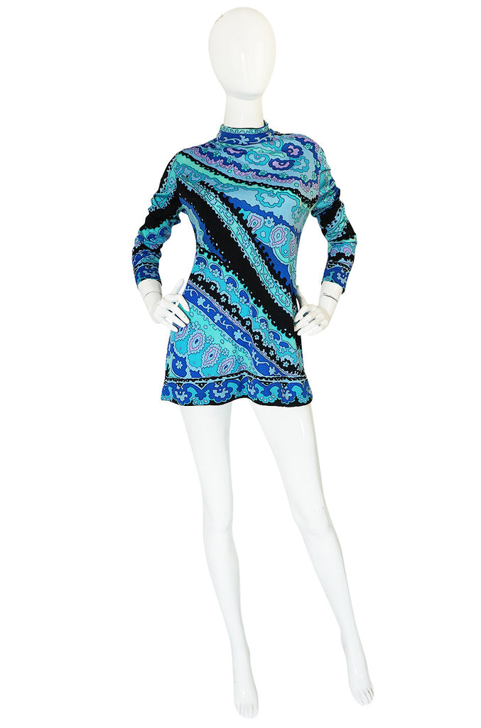 Now On Sale - 1970s Leonard Silk Jersey Tunic or Mini Dress