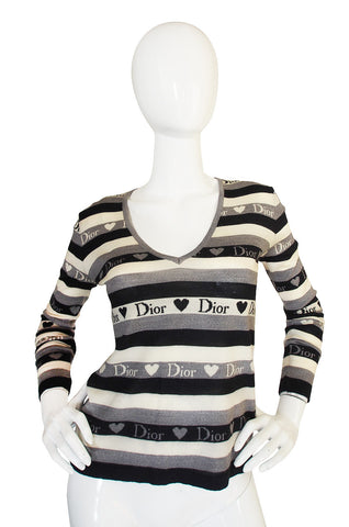 Early 2000 Hearts and Logos Dior Sweater