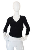 Recent V Neck Azzedine Alaia Light Knit Black Sweater