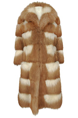 Rare c.1968- 1972 Christian Dior Two Toned Sheepskin Fur Coat