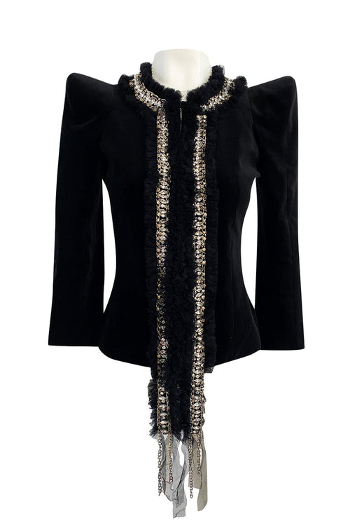 Fall 2009 Balmain by Christophe Decarnin Runway High Pagoda Shoulder Jacket w Embellishments