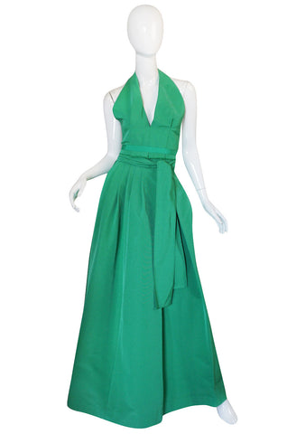 1960s Pauline Trigere Backless Structured Halter & Skirt Dress Set