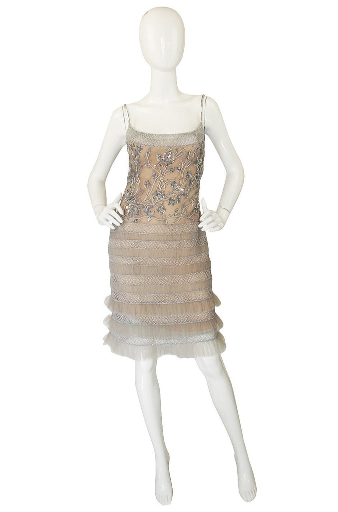 1990s Fine Bead & Sequin Valentino Dress