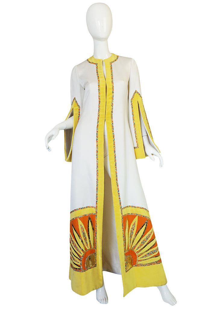 Iconic c.1969-75 Malcolm Starr Quilted Art-to-Wear Coat