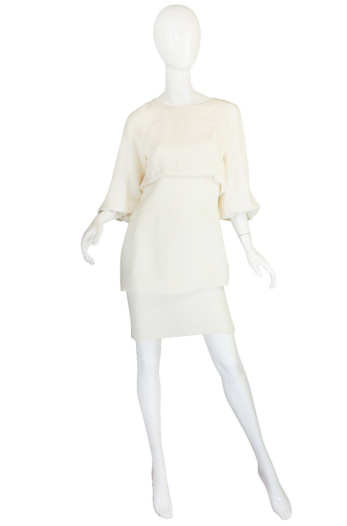 Resort 2012 Runway Chanel Silk Cream Dress