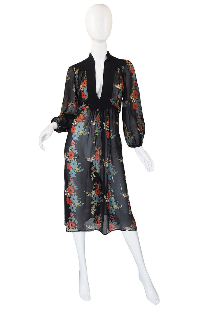 1970 Celia Birtwell Print Ossie Clark Dress
