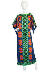 1970s Fabulous Printed Lanvin Numbered Caftan Dress