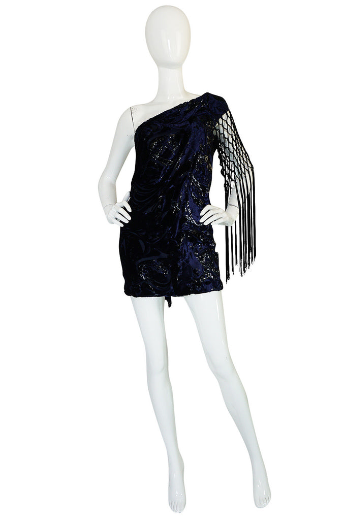 F/W 2010 Peter Dundas for Pucci Fringed Silk Devore Mini Dress