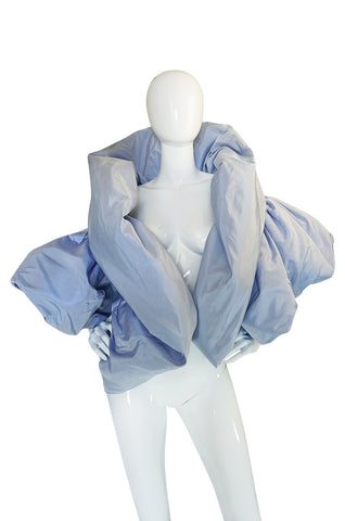 "1988 Bob Mackie Baby Blue Silk ""Domino"" Jacket"