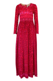 1960s Bessi Silk Jersey & Silk Chiffon Pink & Red Print Dress