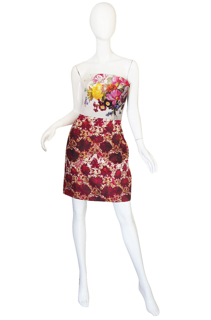 Fall 2011 Mary Katranzou Strapless Print Dress