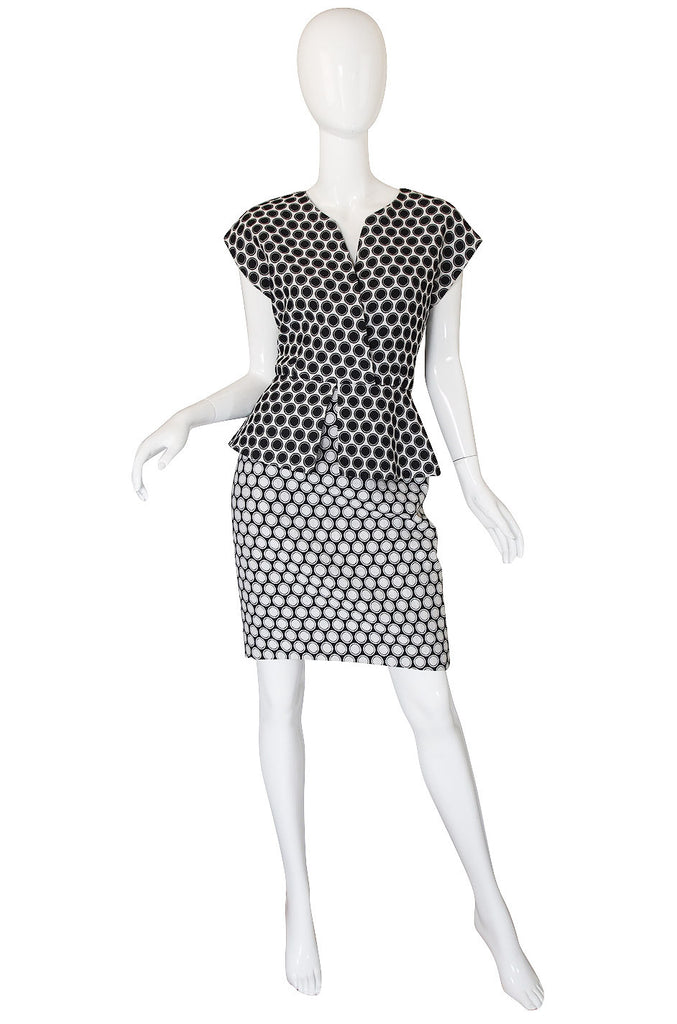 1980s Christian Dior Fitted Dot Dress