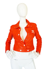 Rare Original 1960s Courreges Orange Vinyl Jacket