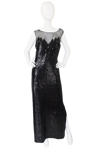 1972 Loris Azzaro Couture Sequin Gown