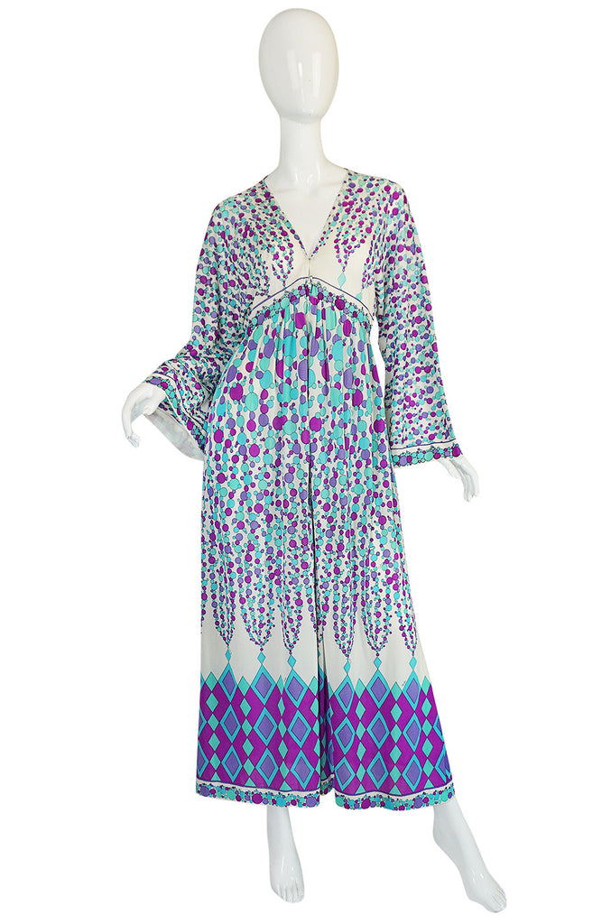 1960s Emilio Pucci for Formfit Nylon Caftan Dress