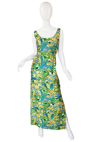 1950s Beaded Fitted Scoop Back Dress