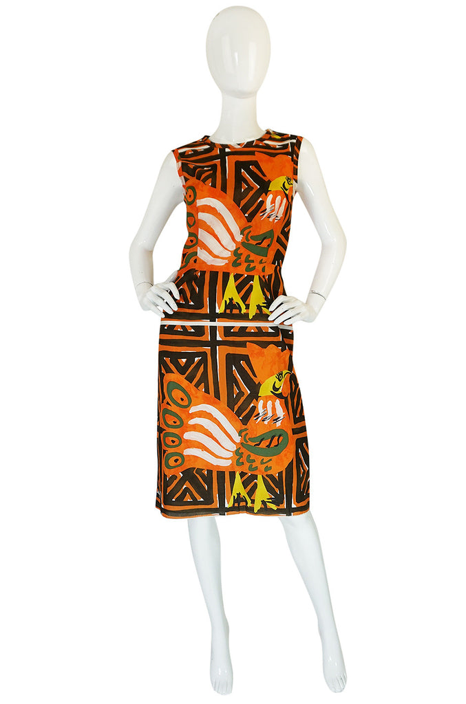 Resort 2010 Collection Printed Prada Fitted Shift Dress