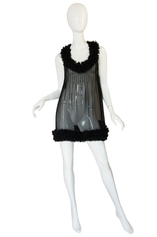F/W 2006 Chanel Runway Semi-Sheer Silk Baby Doll Dress