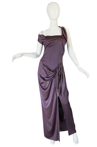 1990s Vivienne Westwood Light Purple Draped Red Label Dress