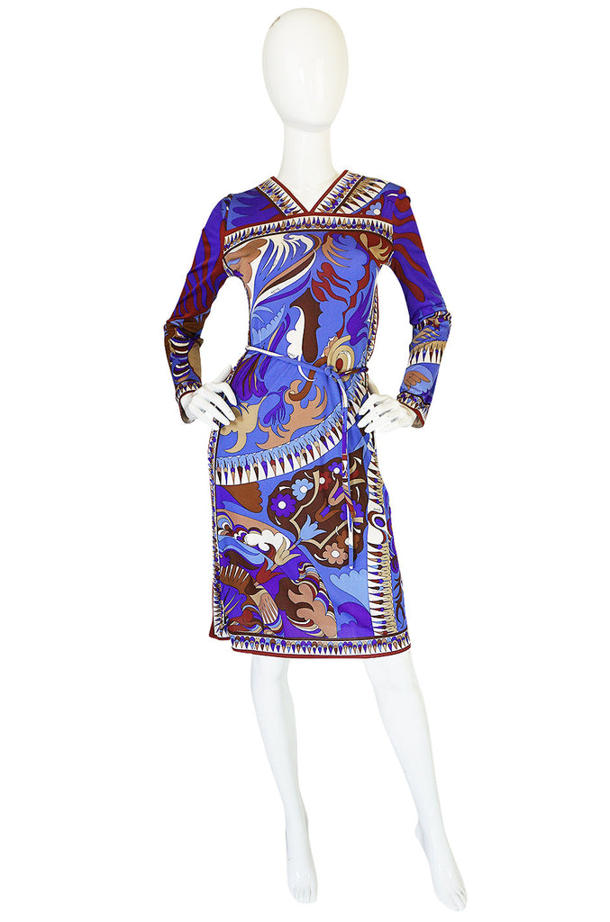 1960s Brilliant Printed Silk Jersey Emilio Pucci Dress