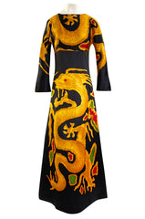 Spring 2001 Valentino Re-Edit of the Famous 1969 Haute Couture Printed Silk Dragon Dress
