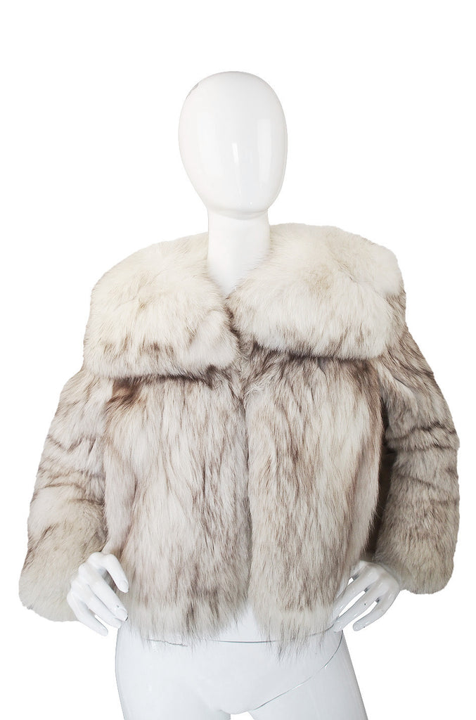 1960s Silver Fox Fur & Leather Galanos Jacket