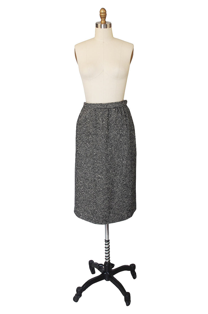 1980s Yves Saint Laurent Tweed Skirt