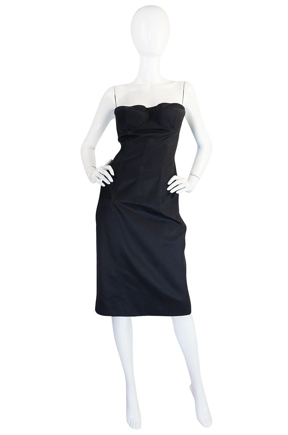 797be4ea951 Spring 2001 Tom Ford for Gucci Black Bustier Dress ...