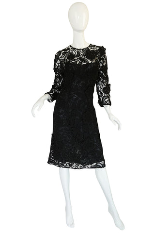 F/W 2008 Prada Runway Wait Listed Black Lace Dress